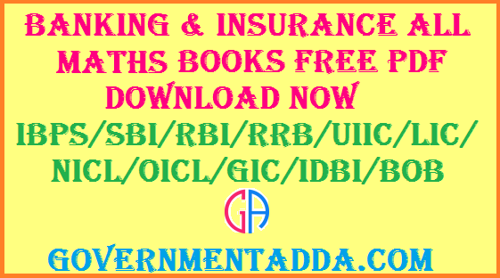 Banking & Insurance All Maths Books Free PDF Download NOW