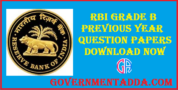 RBI Grade B Previous Year Question Papers