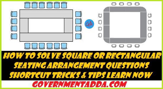 Square or Rectangular Seating Arrangement Shortcut Tricks & Tips