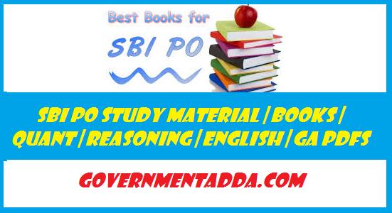 SBI PO Study Material