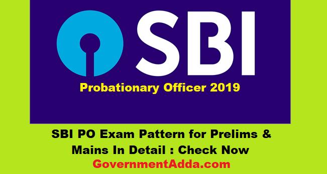 SBI PO Exam Pattern