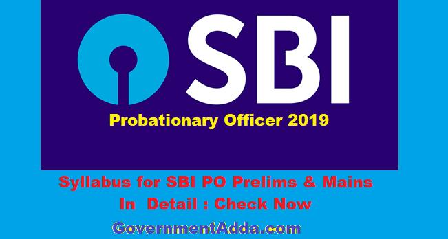 Syllabus for SBI PO