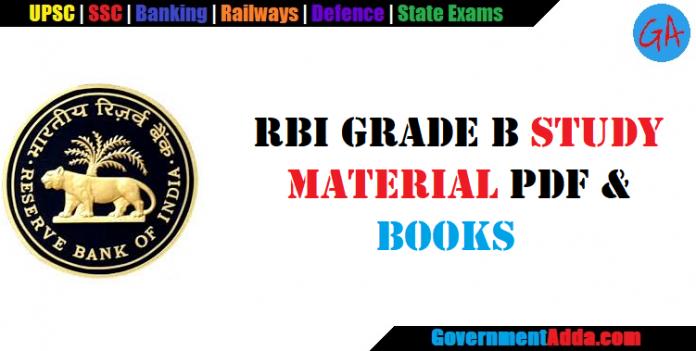 RBI Grade B Study Material PDF & Books