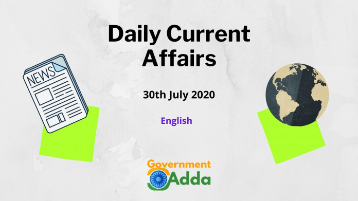 Daily Current Affairs English 30 July 2020